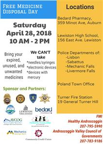 Free Medicine Disposal Day